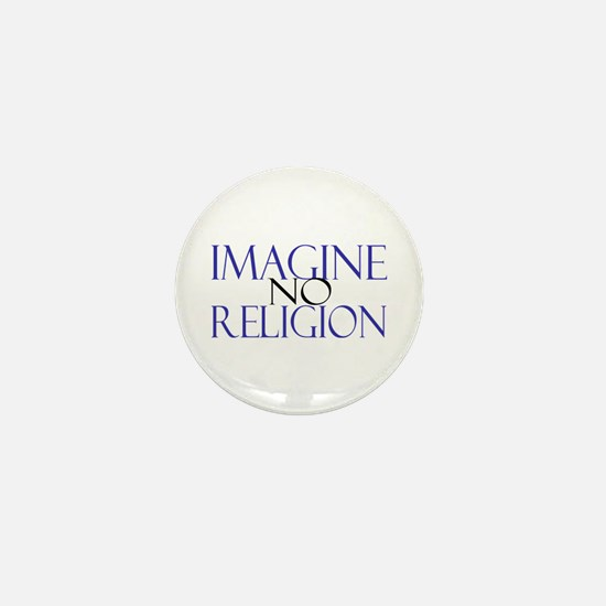 Imagine no Religion Mini Button