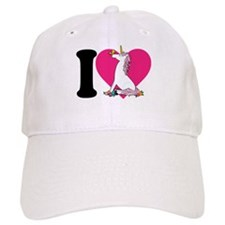 I Love Unicorns Baseball Cap