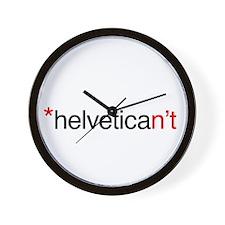 Helvetican't Wall Clock