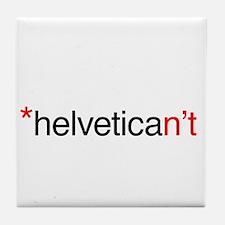 Helvetican't Tile Coaster