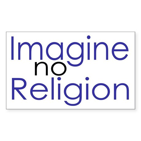 Imagine no Religion Rectangle Sticker