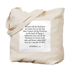 NUMBERS  3:13 Tote Bag