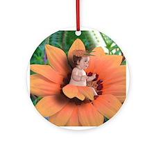 Flower Baby Ornament (Round)