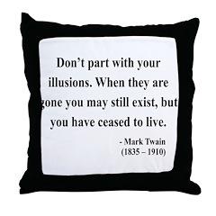 Mark Twain 10 Throw Pillow