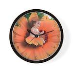 Flower Baby Wall Clock