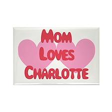 Mom Loves Charlotte Rectangle Magnet
