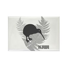 Silver Fern Kiwi Rectangle Magnet