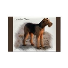 Airedale Terrier Art Rectangle Magnet (10 pack)