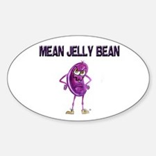 Mean Jelly Bean Oval Decal