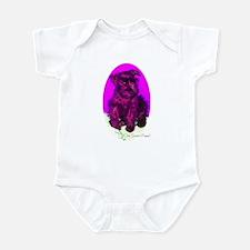 Black Miniature Schnauzer Infant Bodysuit