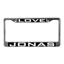 Love Jonas License Plate Frame
