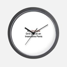 Insensitive Penis Wall Clock