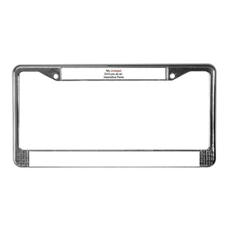 Insensitive Penis License Plate Frame