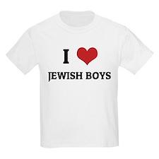 I Love Jewish Boys Kids T-Shirt