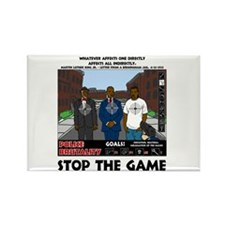 Stop The Game Rectangle Magnet