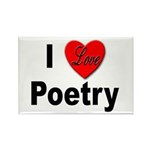I Love Poetry Rectangle Magnet (10 pack)