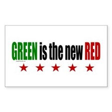GREEN Is The New RED Rectangle Decal