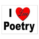 I Love Poetry Small Poster