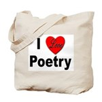 I Love Poetry Tote Bag