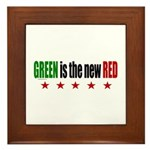 GREEN Is The New RED Framed Tile