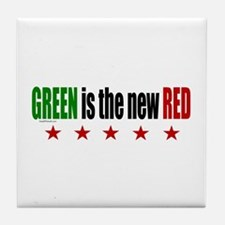 GREEN Is The New RED Tile Coaster