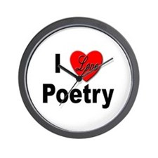 I Love Poetry Wall Clock