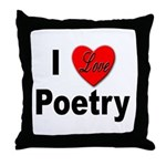 I Love Poetry Throw Pillow