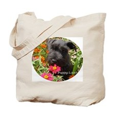 Black Miniature Schnauzer Tote Bag