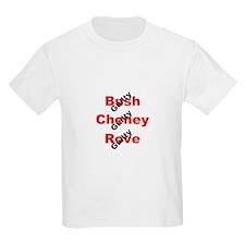 Bush, Cheney, Rove, GUILTY! Kids T-Shirt