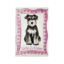 Miniature Schnauzer Valentine Rectangle Magnet