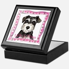 Miniature Schnauzer Valentine Keepsake Box