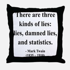 Mark Twain 18 Throw Pillow
