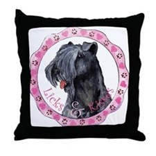 Kerry Blue Valentine Throw Pillow
