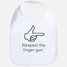Respect The Finger Gun Bib