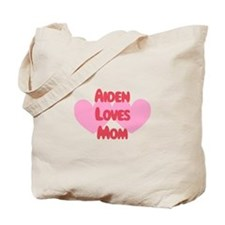 Aiden Loves Mom Tote Bag