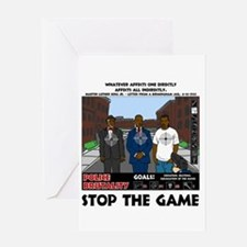 Stop the game & Never again Greeting Card