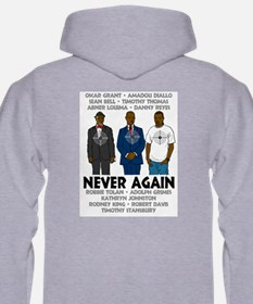 Stop the game & Never again Hoodie