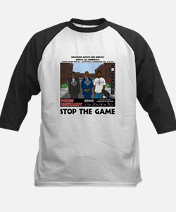 Stop the game & Never again Kids Baseball Jersey