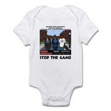 Stop the game & Never again Infant Bodysuit