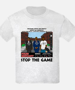 Stop the game & Never again T-Shirt