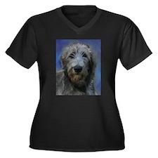Cute Wolfhound Women's Plus Size V-Neck Dark T-Shirt