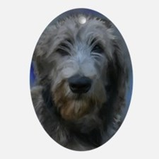 Cute Irish wolfhound Oval Ornament