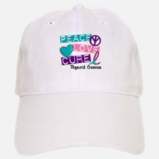 PEACE LOVE CURE Thyroid Cancer (L1) Baseball Baseball Cap