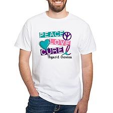 PEACE LOVE CURE Thyroid Cancer (L1) Shirt