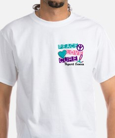 PEACE LOVE CURE Thyroid Cancer (L1) Shirt