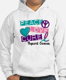 PEACE LOVE CURE Thyroid Cancer (L1) Hoodie