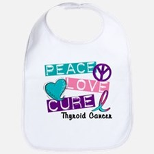PEACE LOVE CURE Thyroid Cancer (L1) Bib