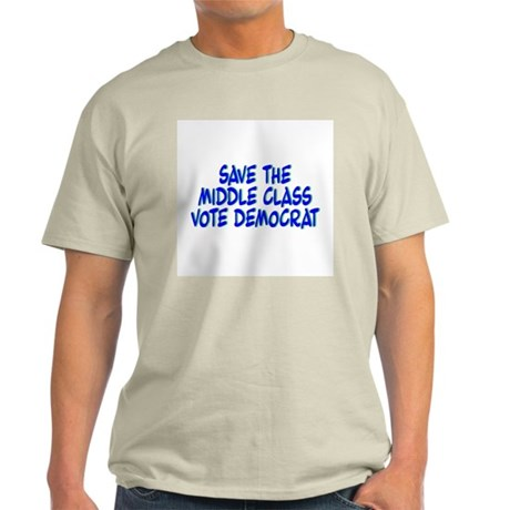 Save The Middle Class Ash Grey T-Shirt