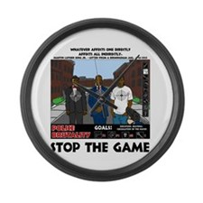 Stop The Game Large Wall Clock