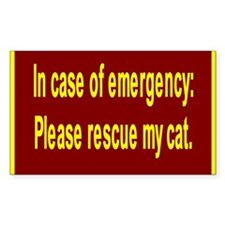 Save Cats Rectangle Sticker 10 pk)